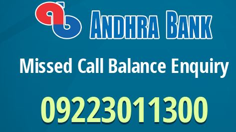 How to Activate Andhra Bank Missed Call Banking ?