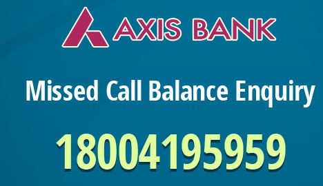 How to activate Axis Bank Missed Call Banking ?