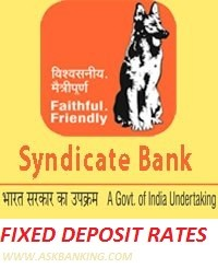 Fixed Deposit Interest Rate – Syndicate Bank