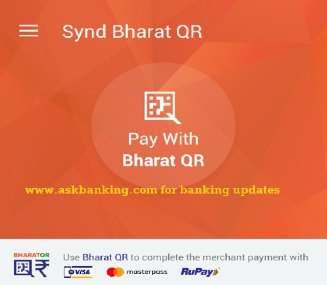 Syndicate Bank Bharat QR Apps, How To Use Guide ?
