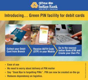 Indian Bank Duplicate ATM cum Debit Card PIN