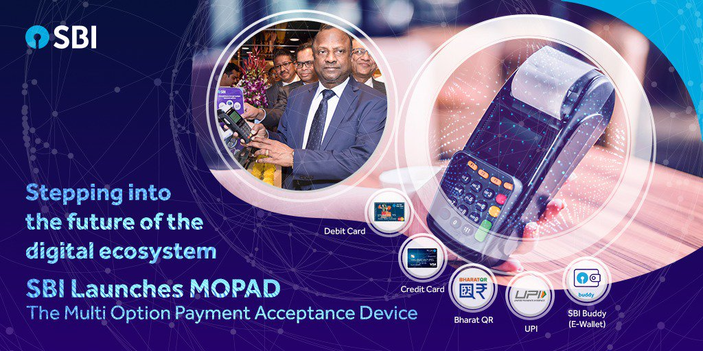 SBI Launches 'MOPAD', All in One PoS  Acceptance Services