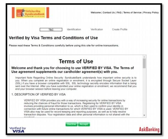 register axis bank credit card verified visa