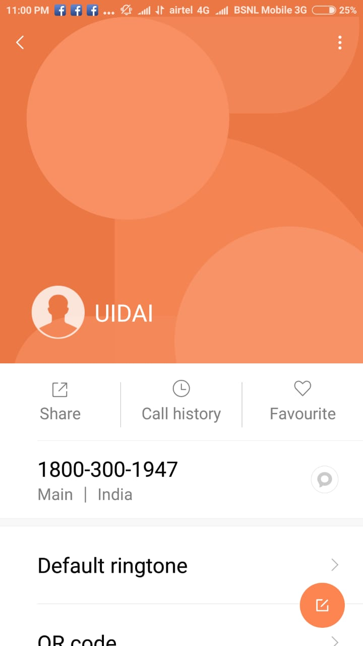 Who has stored This Toll Free Number 1800-300-1947 in Your Phone Contact List ?