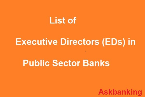Government Appoints EDs To Various Public Sector Banks
