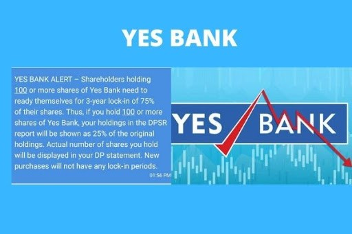 What it means – Yes Bank shares locked in for 3 years ?