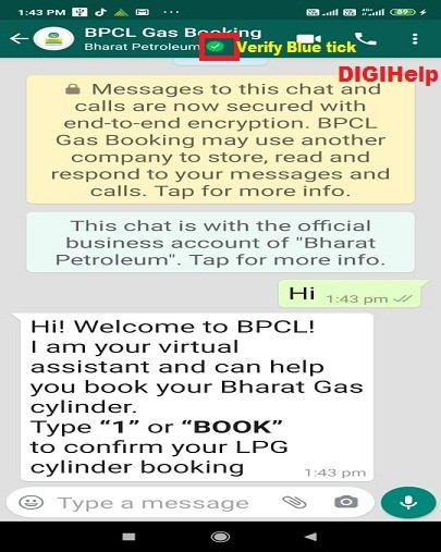 Book BPCL Gas Cylinder Whatsapp