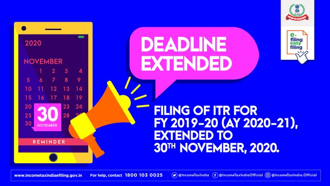 Check Last Date to File ITR for FY 2019-20