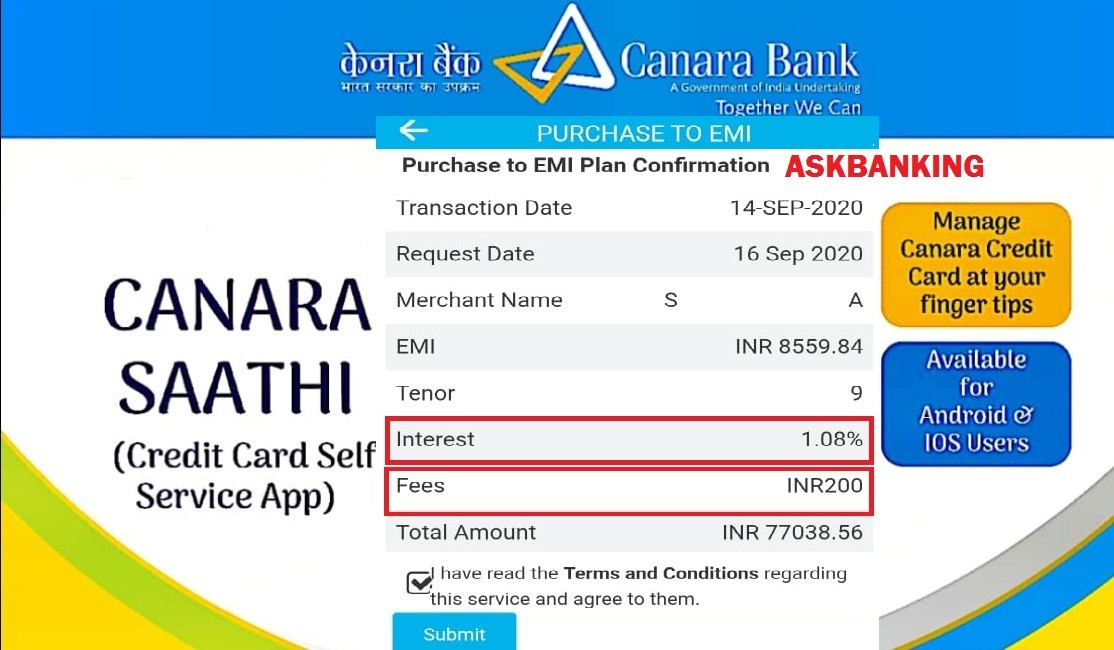eligibility to get canara bank credit card