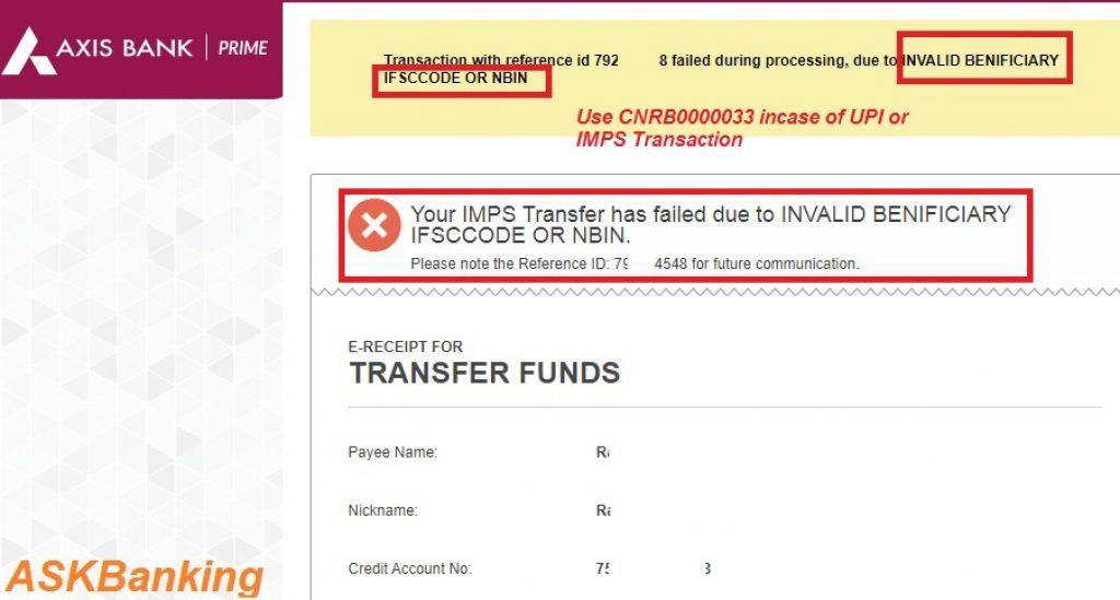 Syndicate Bank IFSC Error-askbanking
