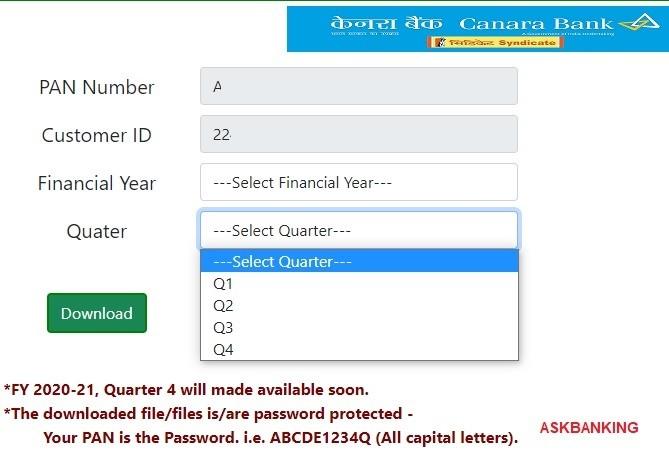 download canara bank form 16-3